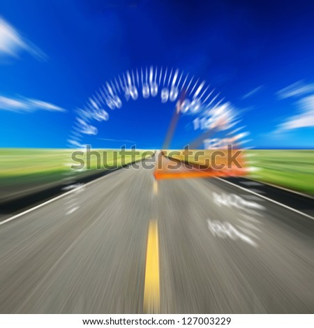 Road and speed - stock photo