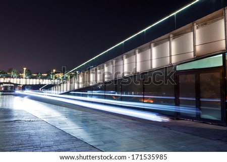 road at night  - stock photo