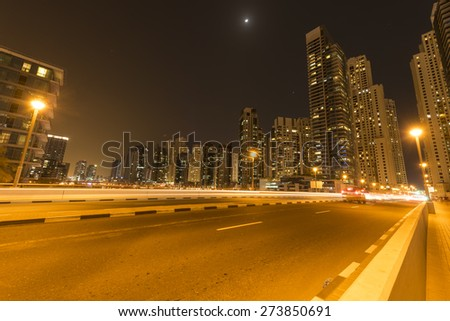 road at night - stock photo