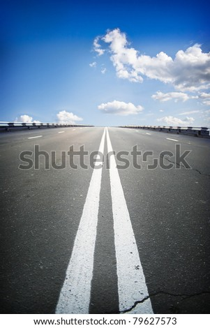 road at sky - stock photo