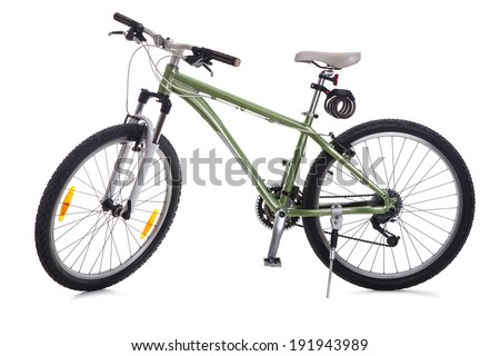 Road bike isolated on white background - stock photo