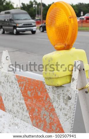 Road block - stock photo