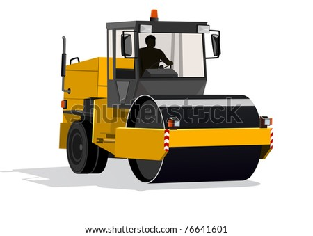 Road-building machinery. A modern machine for asphalt - stock photo