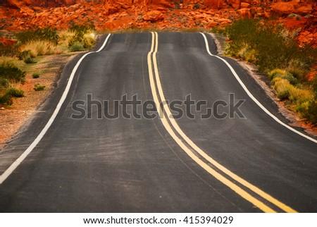 Road bump - stock photo