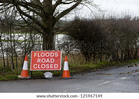 Road closed ahead - stock photo