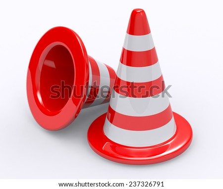 Road cone - stock photo