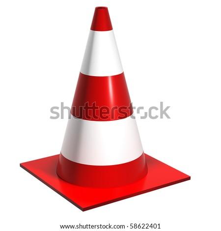 Road cones - stock photo