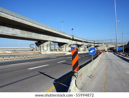 Road construction - stock photo