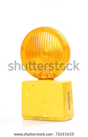 road construction yellow light