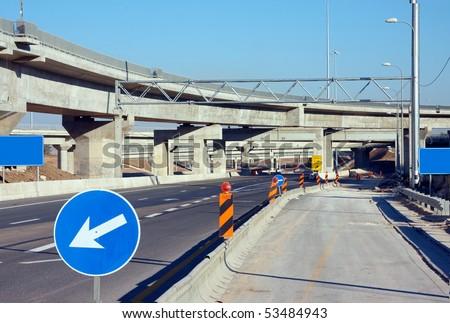 Road constructions - stock photo