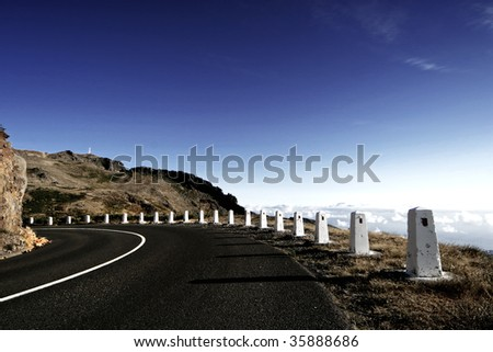 road curve - stock photo