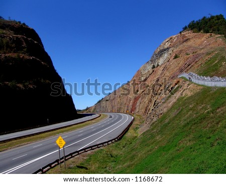 road cut in moutain - Maryland
