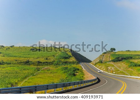 Road Cutting Through Hills