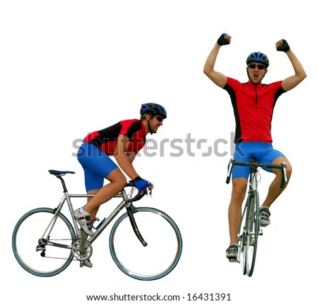 Road cycler isolated - stock photo