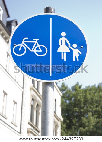 road double sign - stock photo