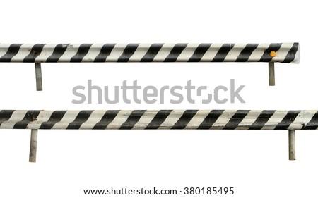 Road fence isolated on white background - stock photo
