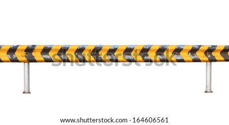 Road fence (with clipping path) isolated on white background - stock photo
