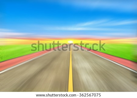 road for background high speed - stock photo