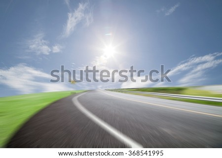 road for background high speed motion blur background