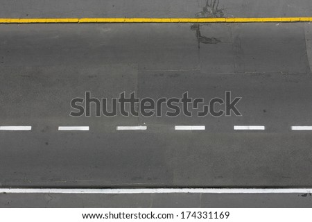 road from above - stock photo