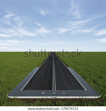 Road from tablet pc