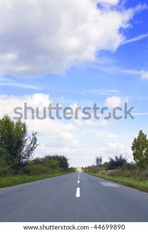 Road horison in Vojvodina - Serbia - stock photo