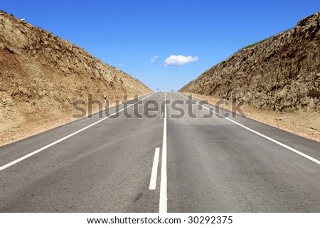 Road in a arid landscape