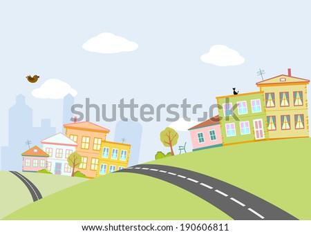 road in city - stock photo