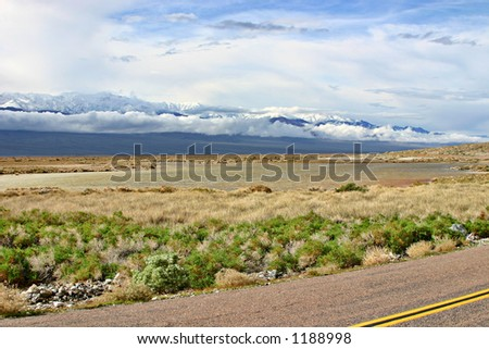 Road in Death Valley - stock photo