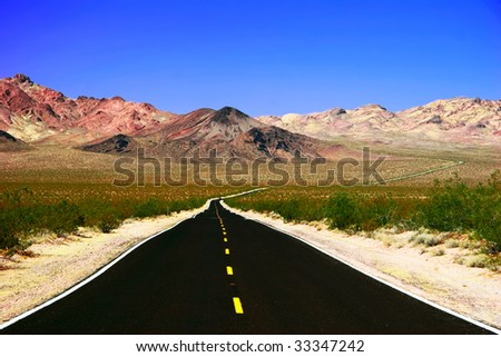 Road in Death Valley. California. USA