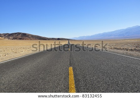 Road in Death Valley National Park - stock photo