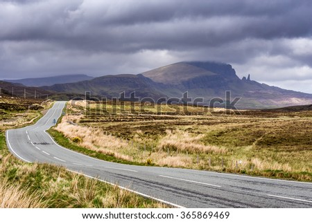 Road in Isle of Skye