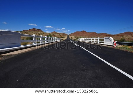 Road in Namibia - stock photo