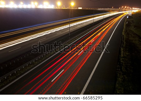 Road in night
