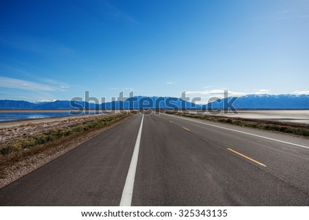 Road in Oregon during day time - stock photo