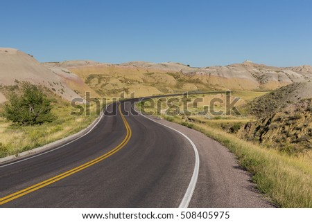 Road In The Badlands