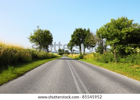 Road in the countryside - stock photo