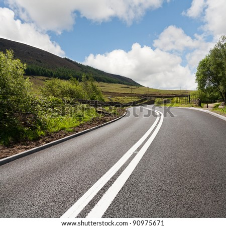 Road in the countryside,uk - stock photo