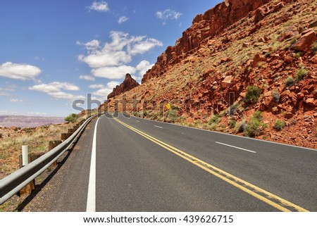 Road in the desert of Arizona