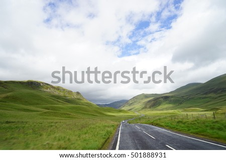 Road in the mountain