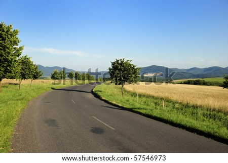 Road in the mountains - stock photo