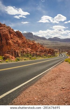 Road in Valley of Fire, Nevada, USA