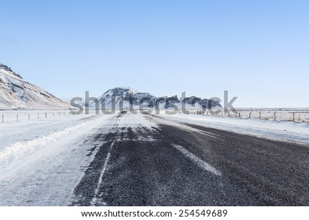 Road in Winter - stock photo