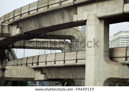 Road junction - stock photo