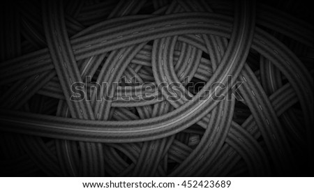 road knots background 3D illustration  - stock photo