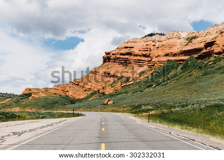 Road leading into the canyons