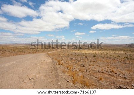 Road leading into the desert