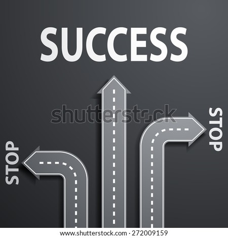 road leading to success - stock photo