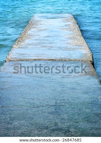 road leading to the sea - stock photo