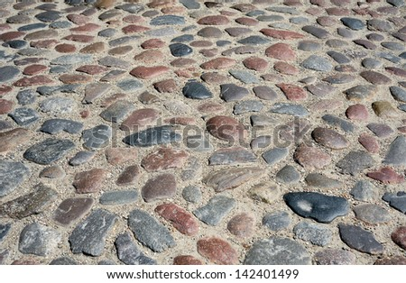 Road made from stone